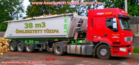 Tüzifa kamiontételben szlovákiából